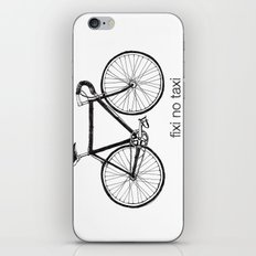 fixi no taxi iPhone Skin