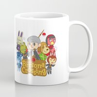 persona Mugs featuring Persona Crossing by Cassie S