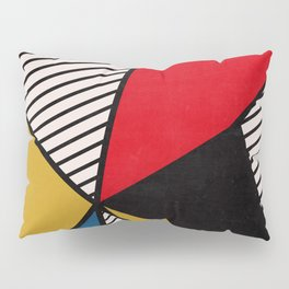 Primary Colors and Stripes Pillow Sham