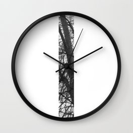 Minimal Letter I Print With Photography Background Wall Clock