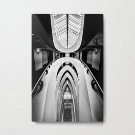 Hotel stairs. Metal Print