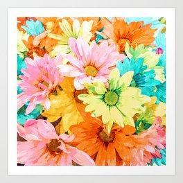 Simone #painting #floral Art Print
