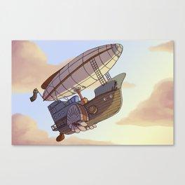 Steampunk Airship Canvas Print