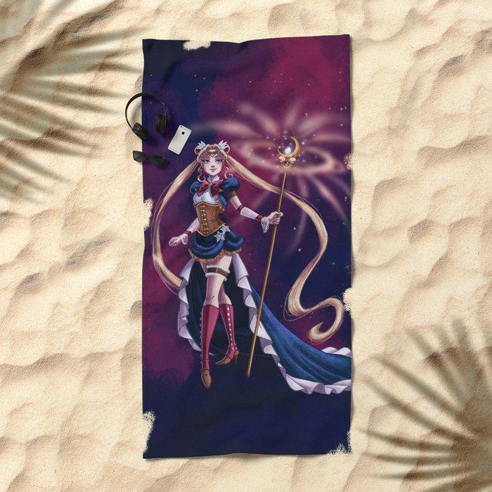 Steampunk Pretty Soldier Beach Towel