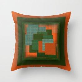 Orange Color Geometry Throw Pillow