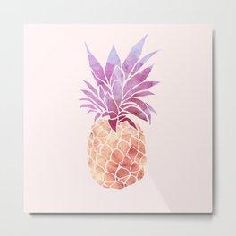 JUICY Pineapple Metal Print