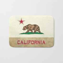 Vintage California Flag Bath Mat