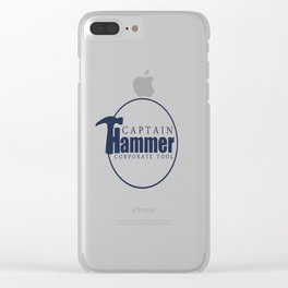 Captain Hammer Clear iPhone Case