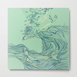 Ocean Breath Metal Print