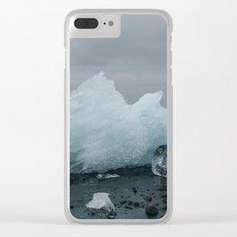 Diamond Beach, Merritt Island, Iceland Clear iPhone Case