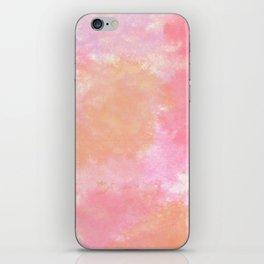 Orange Pink Watercolor iPhone Skin
