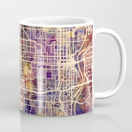 Omaha Nebraska City Map Coffee Mug