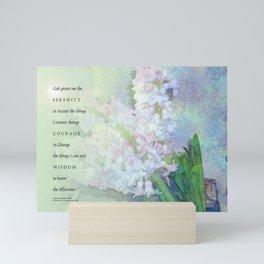 Serenity Prayer Hyacinths Blend Mini Art Print