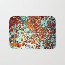 Rustic Autumn Bath Mat