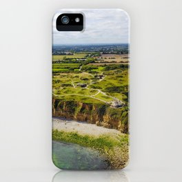 Pointe Du Hoc seen from above iPhone Case