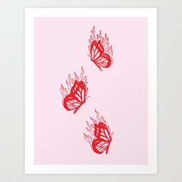 Give Me Butterflies Art Print