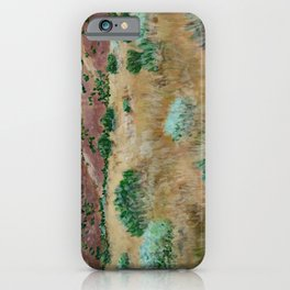 Boise foothills acrylic painting iPhone Case