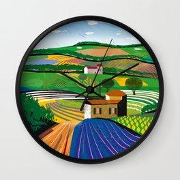 Lavender Farm Wall Clock