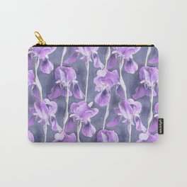 Simple Iris Pattern in Pastel Purple Carry-All Pouch
