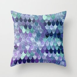 SUMMER MERMAID  Purple & Mint by Monika Strigel Throw Pillow