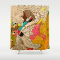 mother Shower Curtains featuring MOTHER by kasi minami