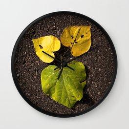 Leaf Love No.2 Wall Clock
