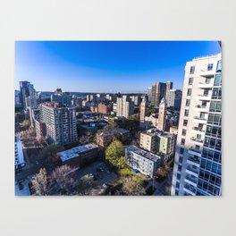Downtown Seattle, Birds Eye View 1 Canvas Print