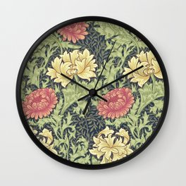 William Morris Chrysanthemum Wall Clock