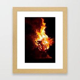 Flame On - Y Ddraig Goch/ The Welsh Dragon Framed Art Print