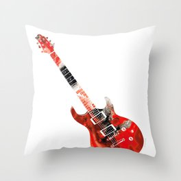 Bass Guitar - Buy Colorful Abstract Musical Instrument Throw Pillow