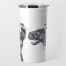 King Kong loves T-Rex Travel Mug