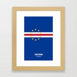 Cabo Verde case Framed Art Print