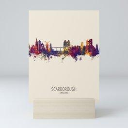 Scarborough England Skyline Mini Art Print