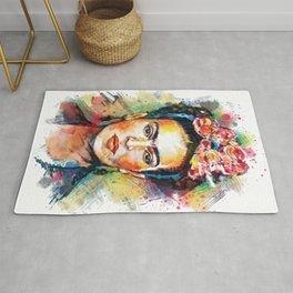 Frida Kahlo Portrait Rug