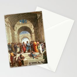 School Of Athens Painting Stationery Cards