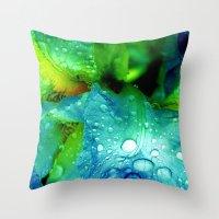splash Throw Pillows featuring Splash by Stephanie Koehl