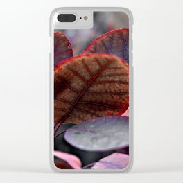 Bleeding Red Leaves Clear iPhone Case