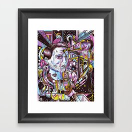 An Attempt To Construct Something As It Simultaneously Collapses and Rebuilds Itself Framed Art Print