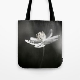 White Anemone Flower in Black And White #decor #society6 #buyart Tote Bag