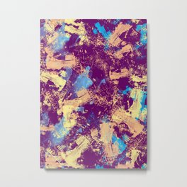 Abstract X Metal Print