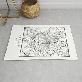 Madrid Spain Street Map Rug