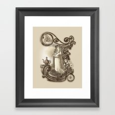T is for Tea Framed Art Print