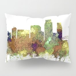 Corpus Christie, Texas Skyline SG - Safari Buff Pillow Sham