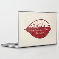 rio de janeiro Laptop & iPad Skins featuring Rio de Janeiro Skyline by Paula Belle Flores