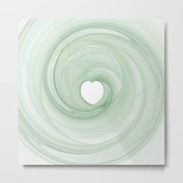 Valentine's Fractal II - Light Metal Print