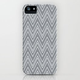 Gray Skinny Chevron iPhone Case