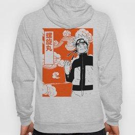 ninja anime orange Hoody