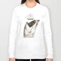 shark Long Sleeve T-shirts featuring shark by Кaterina Кalinich