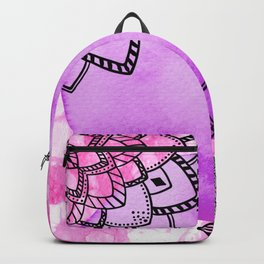 watercolor pink purple mandala Backpack