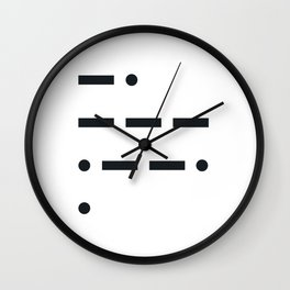 Nope Morse Code Wall Clock